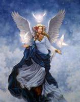 """Предпросмотр схемы вышивки  """"Небесная фея """".  Небесная фея, фэнтези, фея, ангел, девушка."""